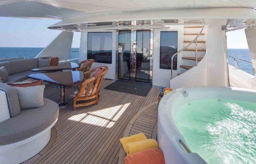 Luxury yacht Antares jacuzzi