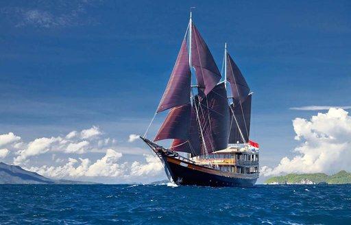 luxury yacht Dunia Baru cruising south east asia on charter