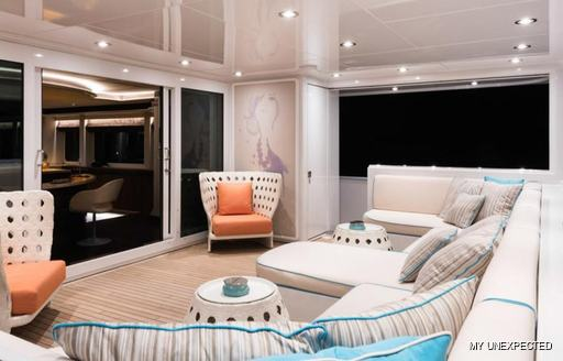 Aft deck on MY Unexpected