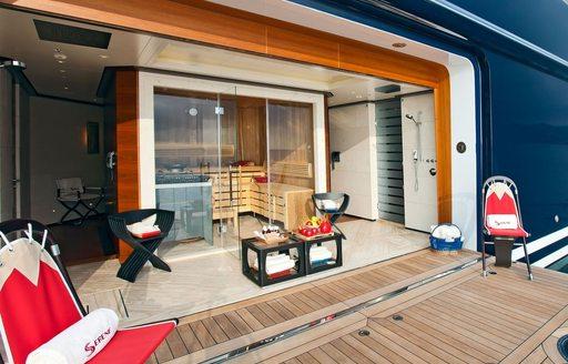 SERENE'S luxurious private beachclub with sauna