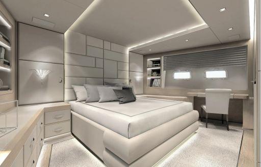 master cabin on yacht AAA