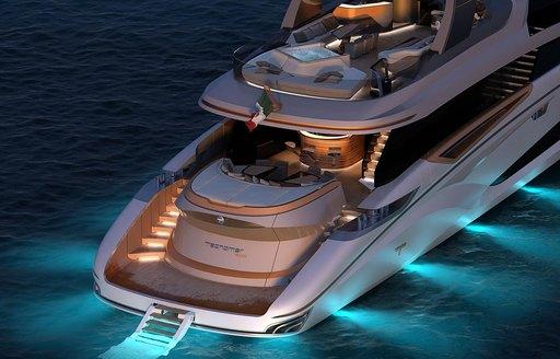 luxury yacht adamas 6 underwater lights