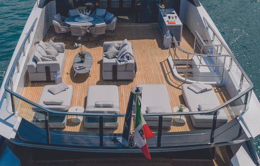 aft decks on luxury superyacht MA by Overmarine