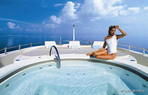 Jacuzzi onboard MY Lady Michelle