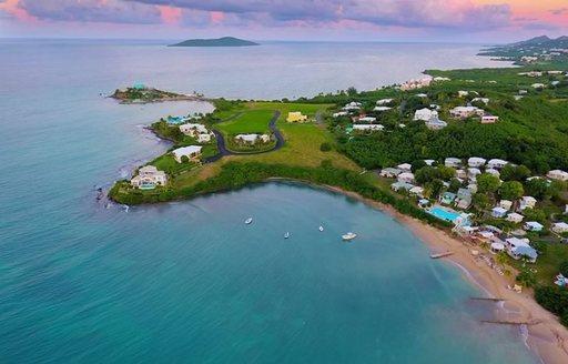 Aerial view of St Croix, US Virgin Islands