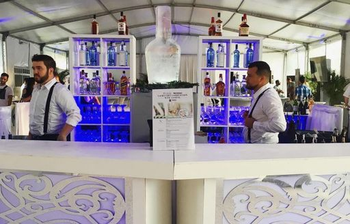 Bar serving drinks at Yacht Chef Awards