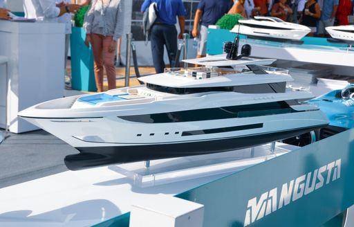 Model yacht at FLIBS 2019