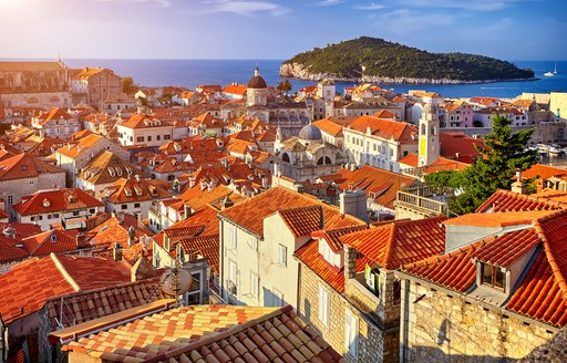 red roofs of Dubrovnik in Croatia, easily visited by superyacht