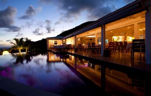 outside view of Restaurant le Gaiac in St Barts