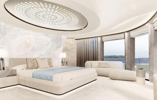 owners cabin on luxury yacht synthesis
