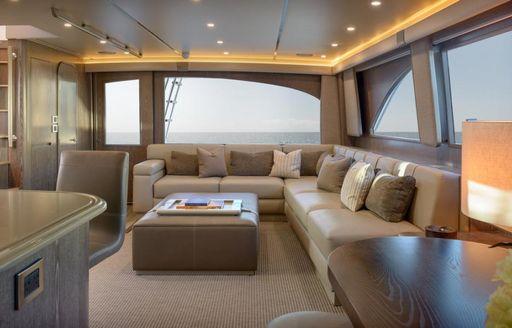 The interior of superyacht 'Ata Rangi'