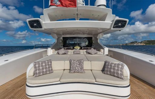 Lounging areas of yacht jomar