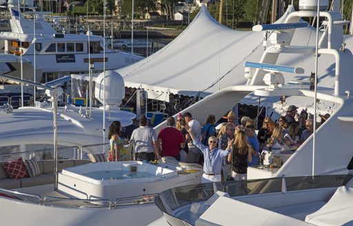 superyacht party at the Newport Charter Yacht Show