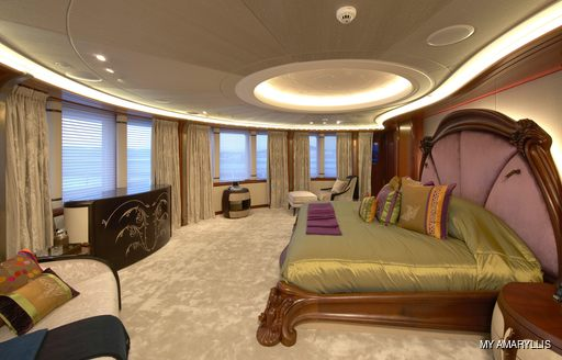 Master suite onboard MY Amaryllis
