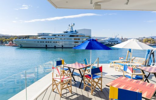superyacht berths at the OneOcean Club in Barcelona