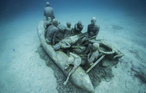 Underwater statue, Cannes