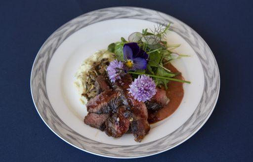 Winning dish at the 2017 Newport Charter Show from Ian Gabbe of superyacht RENAISSANCE