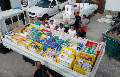 Charter Yacht SURI Provides Aid To Saint Martin photo 2