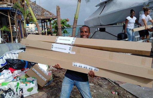 Charter Yacht SURI Provides Aid To Saint Martin photo 3