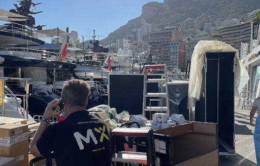 Live photos: Final preparations for Monaco Yacht Show 2021  photo 1