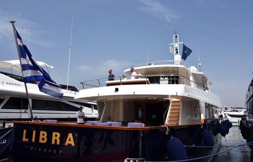 Superyacht 'Libra Y' on display at the Mediterranean Yacht Show