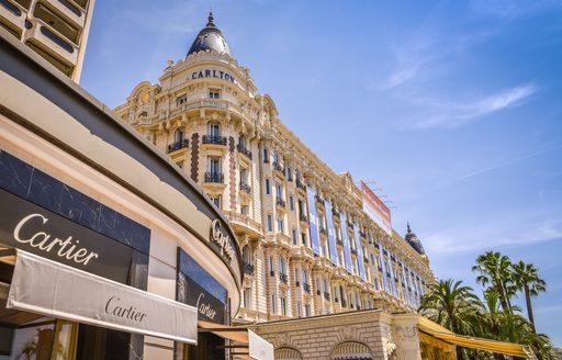 luxury shops line Boulevard de la Croisette in Cannes
