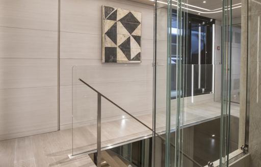 Artwork on display in corridor on superyacht SEVERIN'S