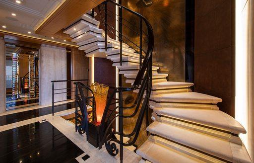 Stairwell onboard MY Valerie