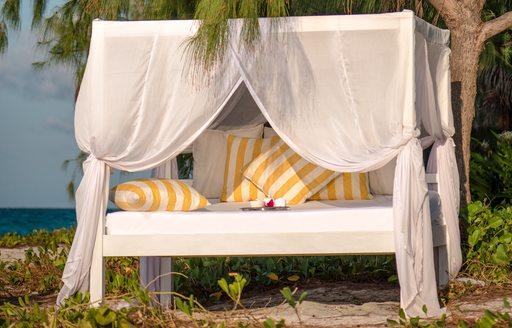 cabana on sandy beach on thanda island