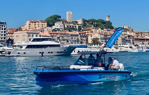 Water taxi ferry at Cannes Yachting Festival 2019