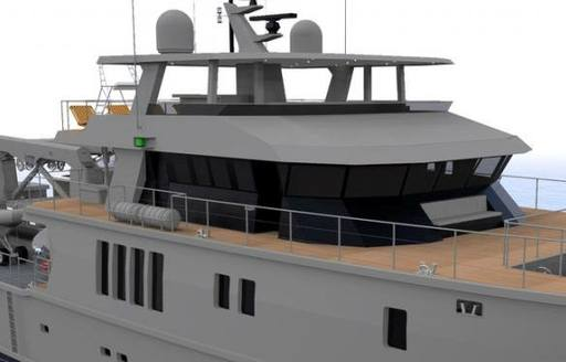 A graphic of M/Y The Beast