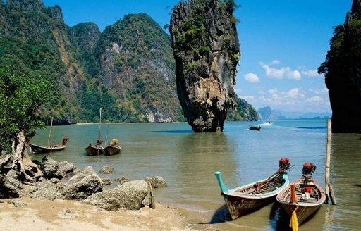 An open view of Ao Phang-Nga National Park, Thailand