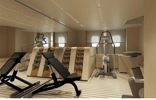 Dedicated gym onboard MY ELA