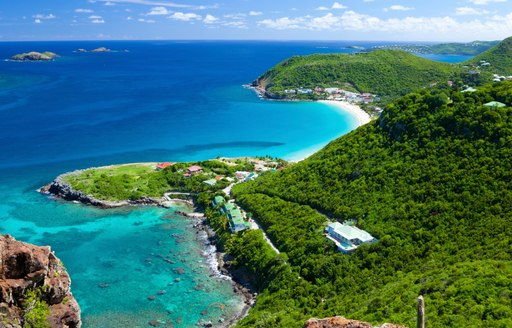 st barts beach and hills