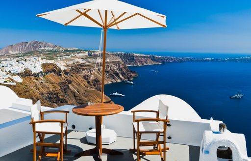 Terrace in Greece