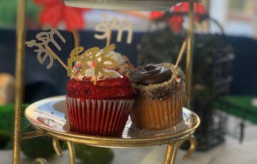 cupcakes on luxury yacht
