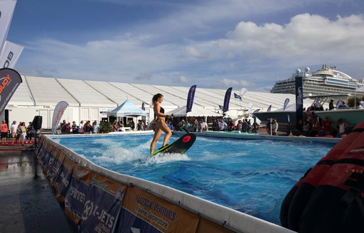 a water toy demonstration at the Fort Lauderdale International Boat Show