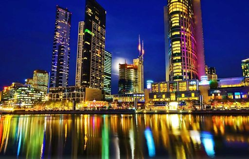Melbourne city nighttime