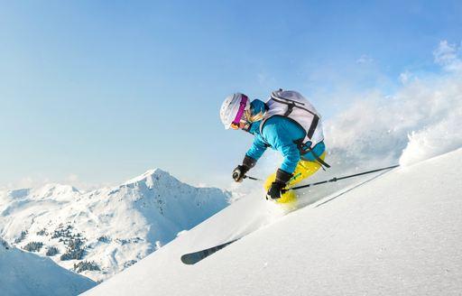 Skier in Kamchatka