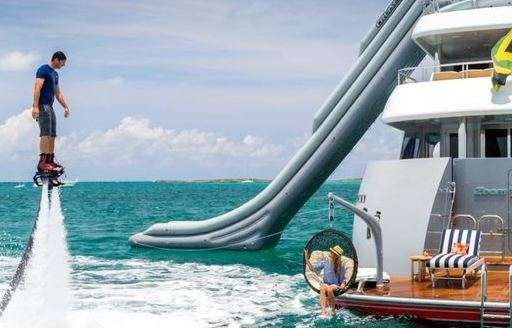 Yacht charter flyboarding