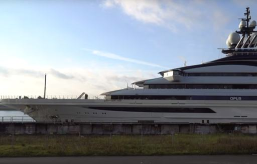 Superyacht NORD being floated