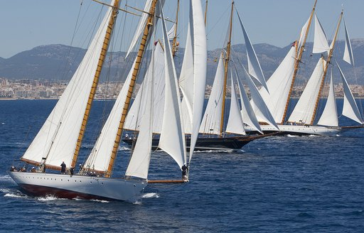 sailing yachts compete at the Superyacht Cup Palma in Mallorca