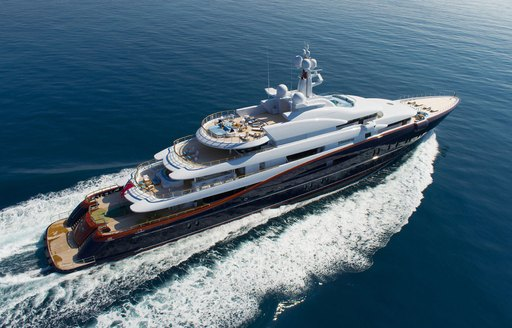 charter yacht NIRVANA cruising on a luxury yacht charter