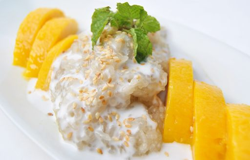 Khao Niew Ma Muang, also known as sticky mango rice, is a popular desert served across Thailand