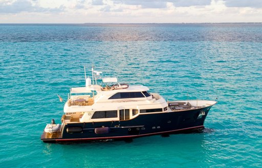 Charter yacht NOMADA on sea