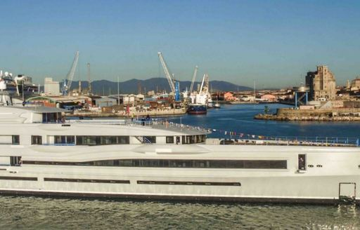 benetti superyacht FB 277 or IJE on the water