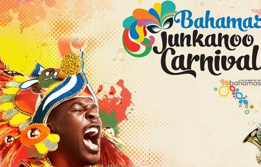 colourful Junkanoo Festival Poster with man