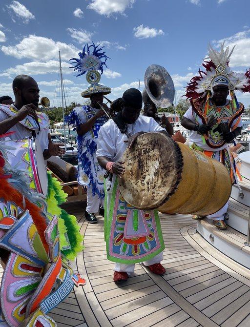 junkanoo festivies at bahamas charter show