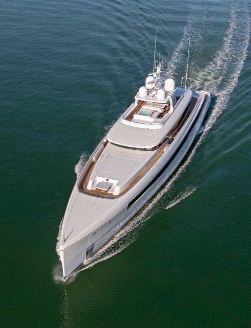 Aerial image of superyacht NAJIBA from Feadship