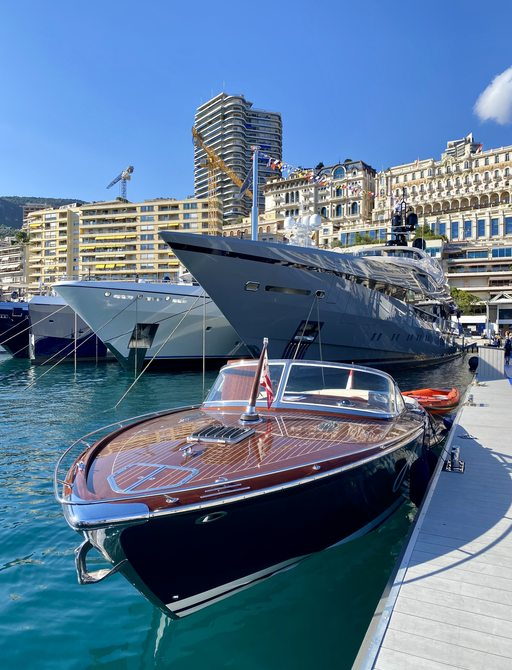 Riva yacht at the MYS 2021